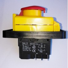 Vypínač pro pasovou pilu Topland G5012WA (230v)  STOP-tlačitko 250V   na 4 konektory
